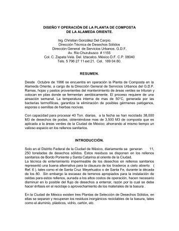 DISEÑO Y OPERACIÓN DE LA PLANTA DE COMPOSTA DE LA ...