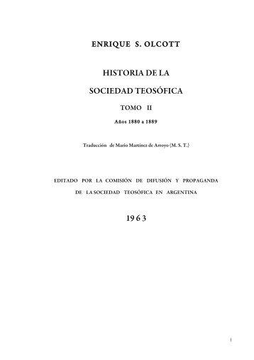 HISTORIA DE LA SOCIEDAD TEOSÓFICA 19 6 3