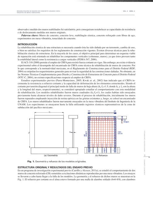 Ensayos en mesa vibradora - Instituto Mexicano del Cemento y del ...