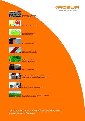 Heizsysteme mit Gas-Absorptions-Wärmepumpen + ... - Robur