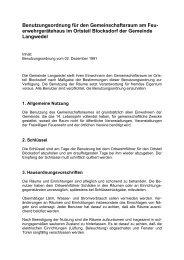 Benutzungsordnung für den ... - Amt Nortorfer Land