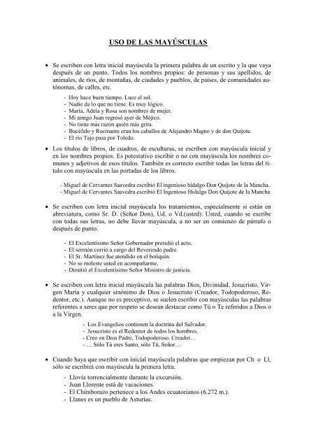 Uso De Las Mayúsculas Colegio Romareda