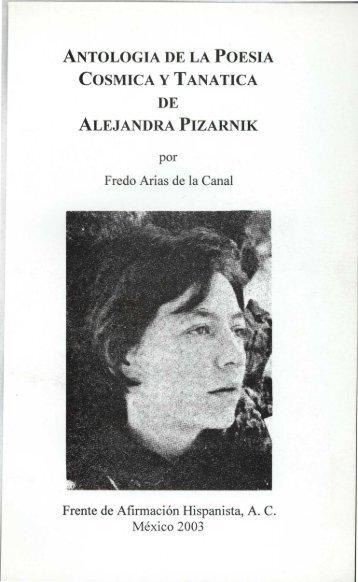 antologia de la poesia cosmica y tanatica de - Frente de Afirmación ...