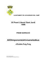 AlOlimponoméshiviuenelsdéus - Ajuntament de les Borges del Camp