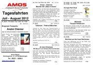 Tagesfahrten Juli - August 2012 - AMOS Reisen