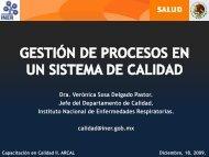 procesos - Instituto Nacional de Enfermedades Respiratorias