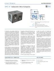 UMS-1p :Subwoofer Ultra-Compacto - Meyer Sound Laboratories Inc.