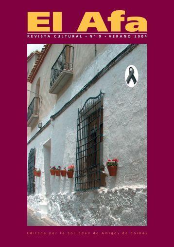EL AFA nº 9 - Revista Cultural - Verano 2004 - sociedad de amigos ...