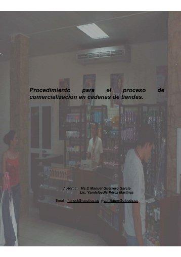 Procedimiento para el proceso de comercialización en cadenas de ...