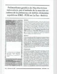 Polimorfismo genético de Mycobacterium tuberculosis, por el ...