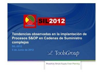 Ponencia de Toolsgroup - Idom Consulting