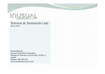 sistemas de iluminación led - Inusual Comunicación