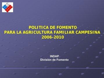 politica de fomento para la agricultura familiar campesina ... - Odepa