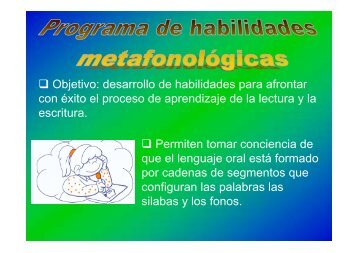 HABILIDADES METAFONOLOGICAS