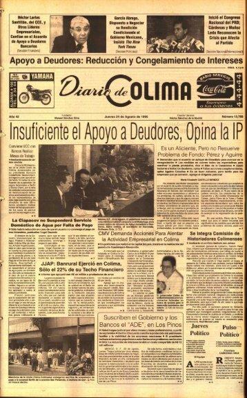 nsuficiente el Apoyo a Deudores, Opina la I P - Universidad de Colima