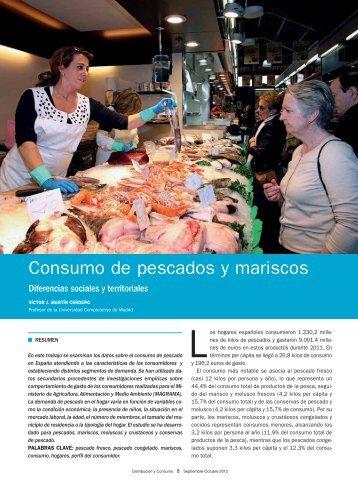 Consumo de pescados y mariscos - Mercasa