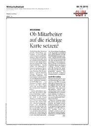 Wirtschaftsblatt 08.10.2010