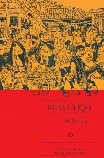 Mayurqa - Volum 19n2 - Biblioteca Digital de les Illes Balears