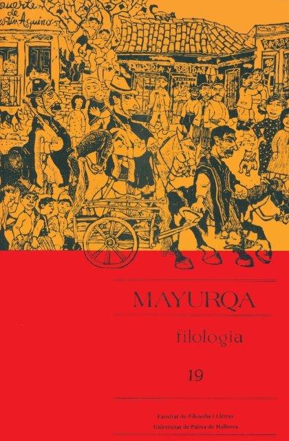 Mayurqa Volum 19n2 Biblioteca Digital De Les Illes Balears