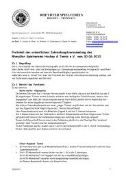 Protokoll der ordentlichen Jahreshauptversammlung vom 30.06.2010