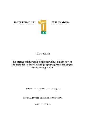Tesis doctoral La arenga militar en la historiografía, en la épica y en ...
