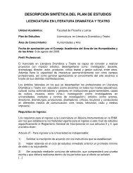 Licenciatura en Literatura Dramática y Teatro - Dirección General de ...