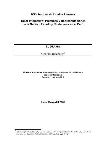 """Georges Balandier, """"El drama"""" - Cholonautas"""