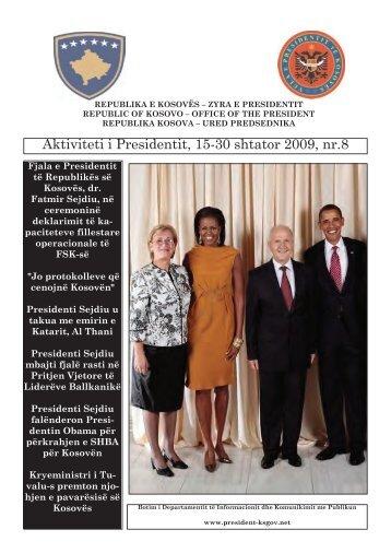 Aktiviteti i Presidentit, 15-30 shtator 2009, nr.8 - Presidente e ...