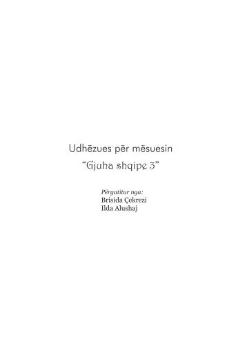 """udhëzues për mësuesin """"Gjuha shqipe 3"""" - Albas"""