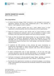 CENTRO DRAMÁTICO GALEGO - Culturagalega.org