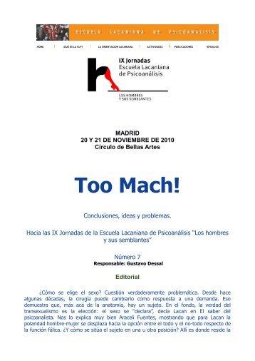 Too Mach! - Escuela Lacaniana de Psicoanálisis