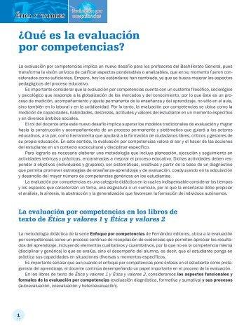 ¿Qué es la evaluación por competencias? - Fernández Editores