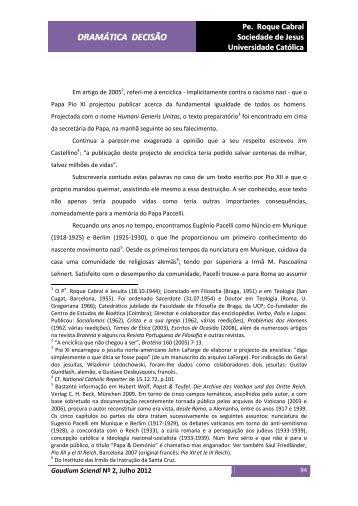 DRAMÁTICA DECISÃO - Universidade Católica Portuguesa