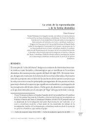 La crisis de la representación y de la forma dramática - Centro de ...
