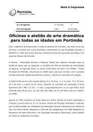 Oficinas e ateliês de arte dramática para todas as idades em Portimão