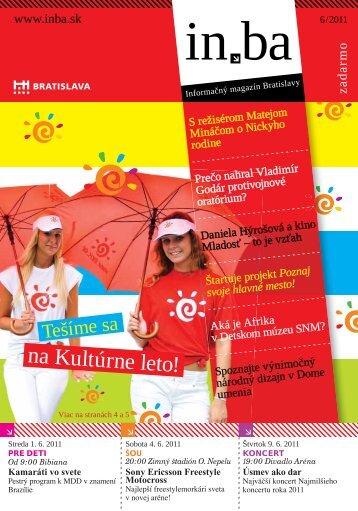na Kultúrne leto! - in.ba - informačný magazín Bratislavy