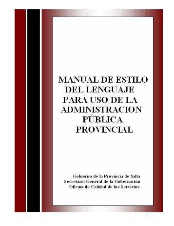 Manual de Estilo del Lenguaje para la Administración Pública
