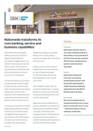 Nationwide transforms its core banking, service and business capabilities