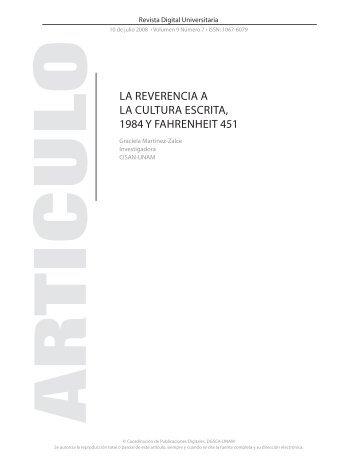 la reverencia a la cultura escrita, 1984 y fahrenheit 451