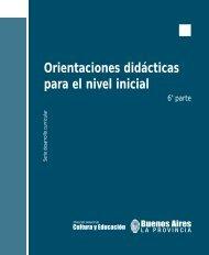 Orientaciones didácticas para el nivel inicial - Dirección General de ...