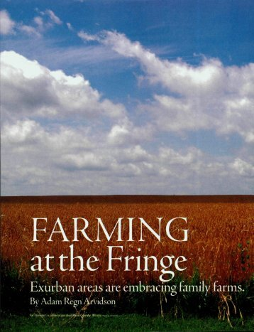 Farming at the Fringe - Environmental Science and Policy