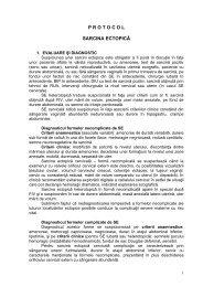 Protocol sarcina ectopica - Spitalul Clinic Municipal de Urgenta ...