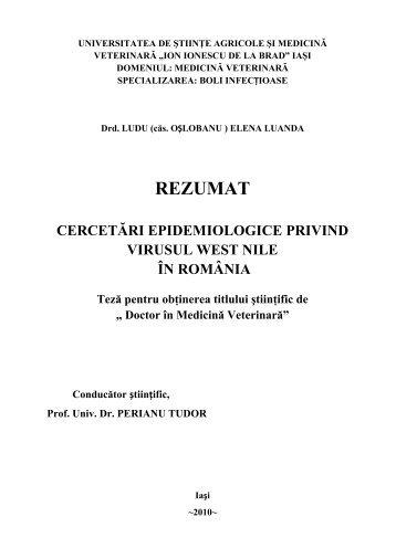 rezumat teză [RO] - Ion Ionescu de la Brad