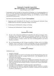 04 Satzung der Gemeinde Ammersbek über die Erhebung