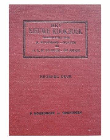 Het Nieuwe Kookboek - weeten