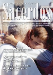 Revista de comunión sacerdotal, caridad pastoral y formación