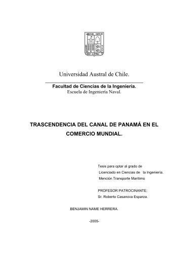 capítulo ii el canal de panamá. - Tesis Electrónicas UACh ...