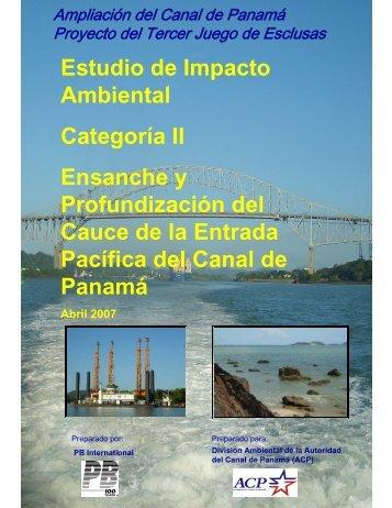 Estudio de Impacto Ambiental Categoría II ... - Panama Canal
