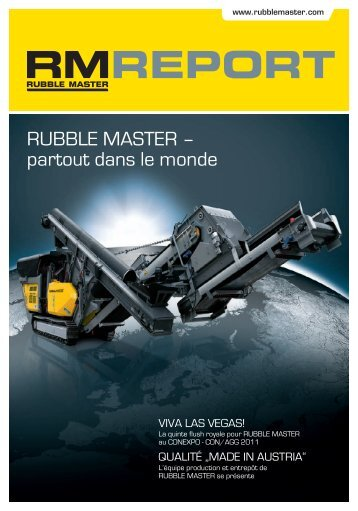RM Report (PDF) - Rubble Master HMH GmbH