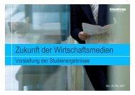 Studie zur Zukunft der Wirtschaftsmedien - Jutta Rubach & Partner